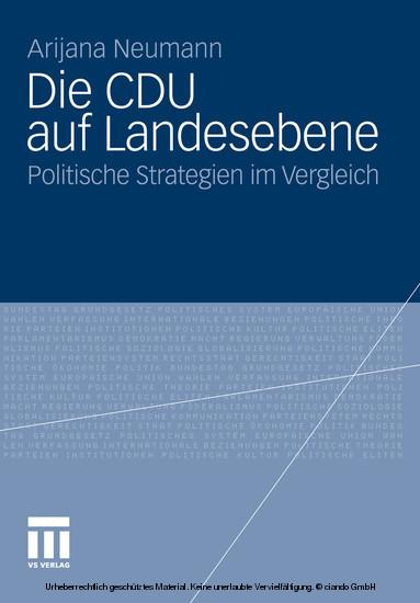 Die CDU auf Landesebene - Blick ins Buch