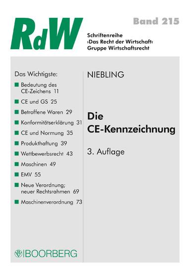 Die CE Kennzeichnung - Blick ins Buch