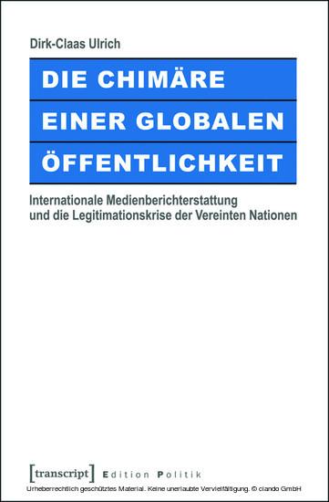 Die Chimäre einer Globalen Öffentlichkeit - Blick ins Buch