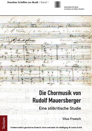Die Chormusik von Rudolf Mauersberger - Blick ins Buch