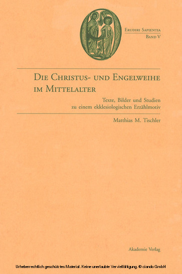 Die Christus- und Engelweihe im Mittelalter - Blick ins Buch
