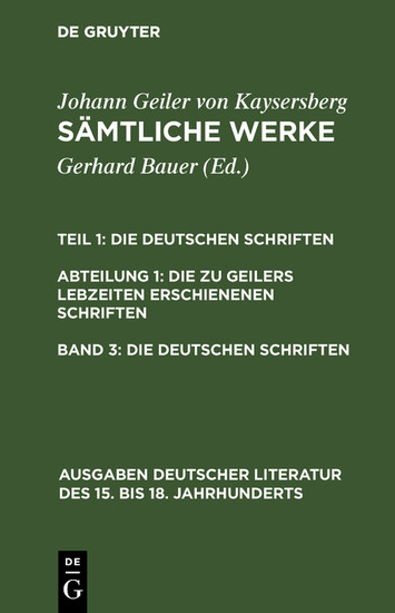 Die deutschen Schriften - Blick ins Buch