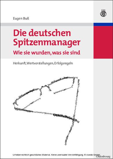Die deutschen Spitzenmanager - Wie sie wurden, was sie sind - Blick ins Buch