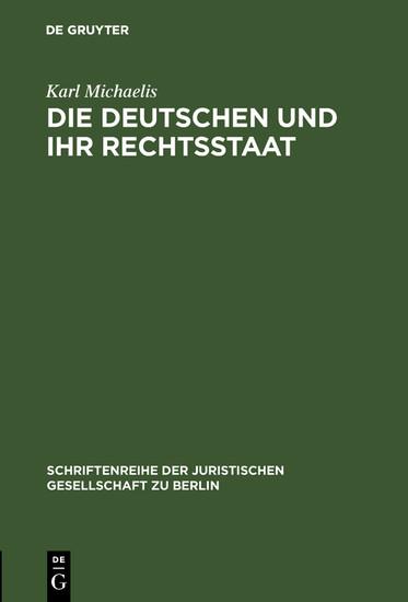 Die Deutschen und ihr Rechtsstaat - Blick ins Buch