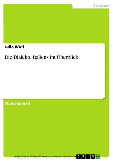 Die Dialekte Italiens im Überblick - Blick ins Buch