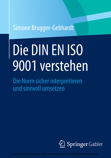 Die DIN EN ISO 9001 verstehen - Blick ins Buch