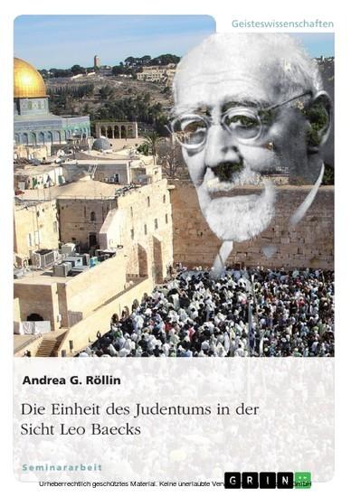Die Einheit des Judentums in der Sicht Leo Baecks - Blick ins Buch