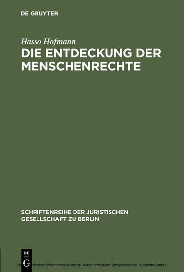 Die Entdeckung der Menschenrechte - Blick ins Buch
