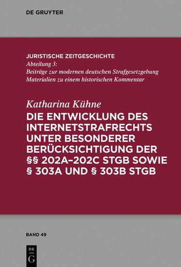Die Entwicklung des Internetstrafrechts - Blick ins Buch