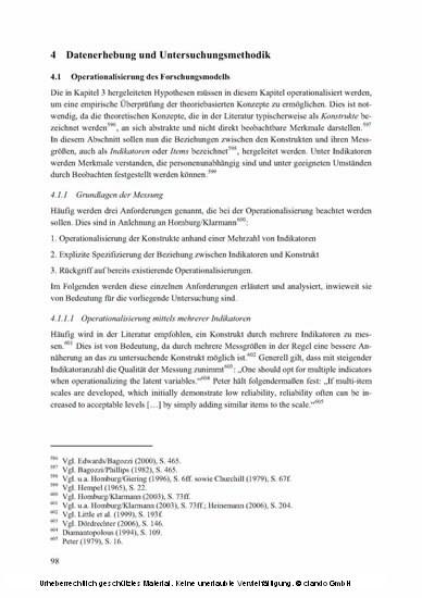 Die Erfolgswirkung von Effectuation im Kontext von F&E-Projekten - Blick ins Buch