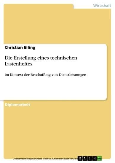 Die Erstellung eines technischen Lastenheftes - Blick ins Buch