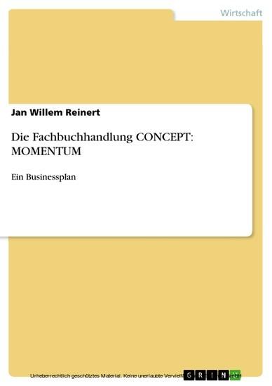 Die Fachbuchhandlung CONCEPT: MOMENTUM - Blick ins Buch