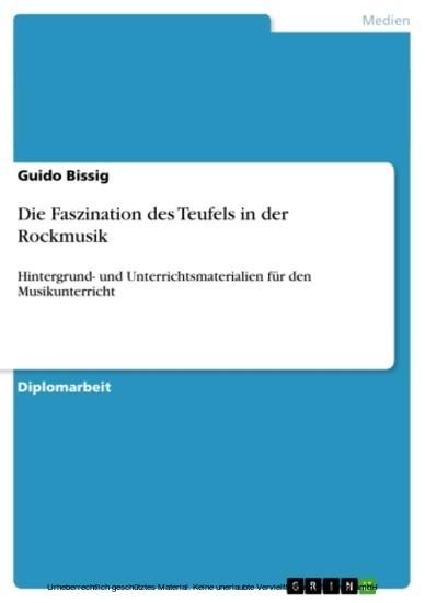 Die Faszination des Teufels in der Rockmusik - Blick ins Buch