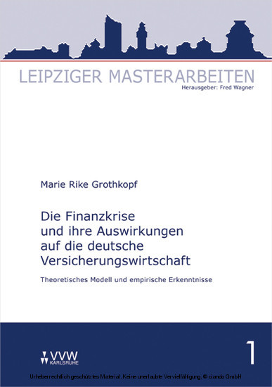 Die Finanzkrise und ihre Auswirkungen auf die deutsche Versicherungswirtschaft - Blick ins Buch