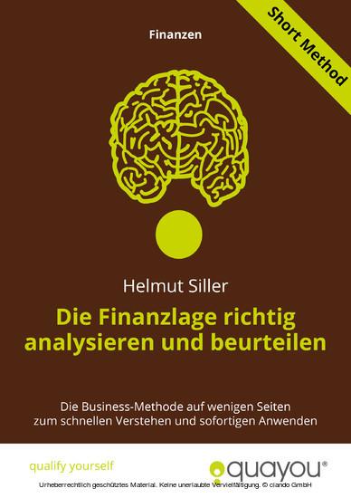 Die Finanzlage richtig analysieren und beurteilen - Blick ins Buch