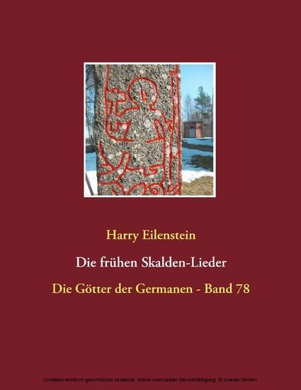 Die frühen Skalden-Lieder - Blick ins Buch
