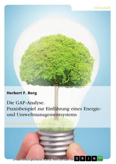 Die GAP-Analyse. Praxisbeispiel zur Einführung eines Energie- und Umweltmanagementsystems - Blick ins Buch