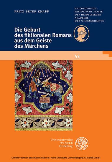 Die Geburt des fiktionalen Romans aus dem Geiste des Märchens - Blick ins Buch