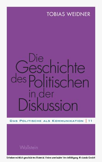 Die Geschichte des Politischen in der Diskussion - Blick ins Buch