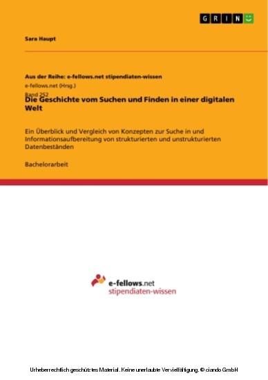 Die Geschichte vom Suchen und Finden in einer digitalen Welt - Blick ins Buch