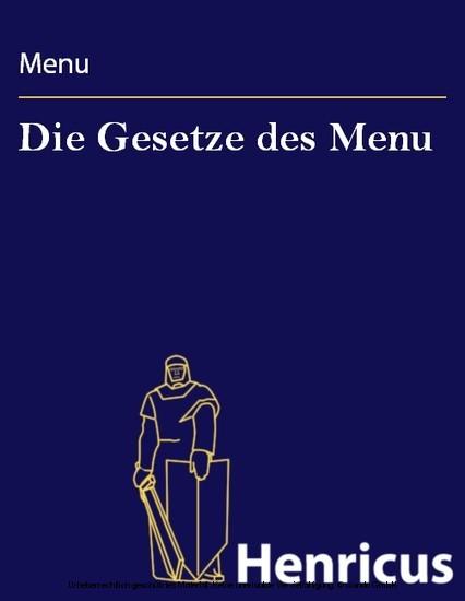 Die Gesetze des Menu - Blick ins Buch