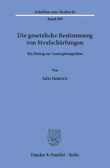 Die gesetzliche Bestimmung von Strafschärfungen. - Blick ins Buch