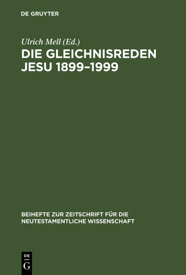 Die Gleichnisreden Jesu 1899-1999 - Blick ins Buch