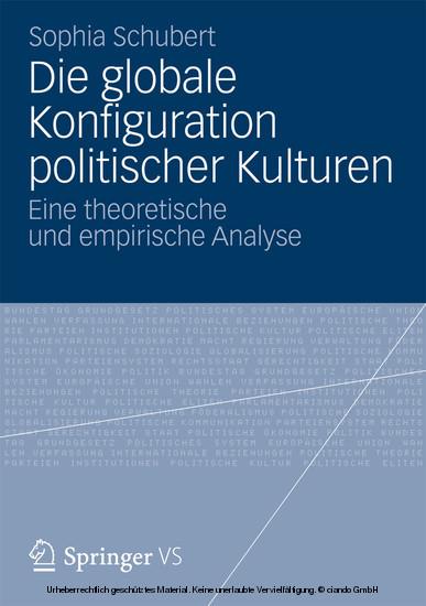 Die globale Konfiguration politischer Kulturen - Blick ins Buch