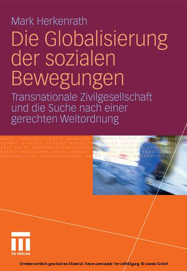 Die Globalisierung der sozialen Bewegungen - Blick ins Buch