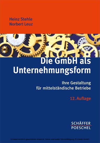 Die GmbH als Unternehmungsform - Blick ins Buch
