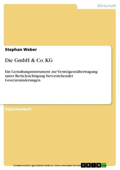 Die GmbH & Co. KG - Blick ins Buch