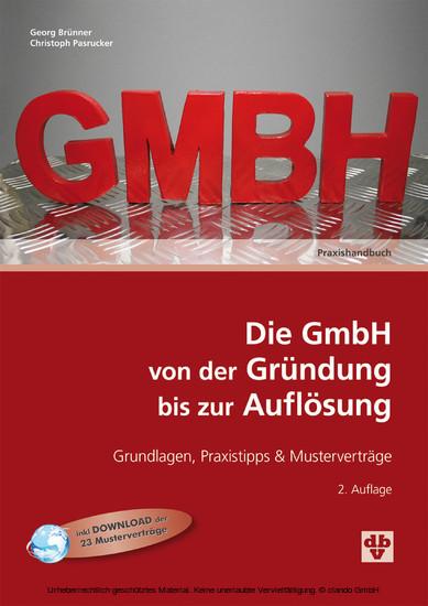 Die GmbH von der Gründung bis zur Auflösung (Ausgabe Österreich) - Blick ins Buch