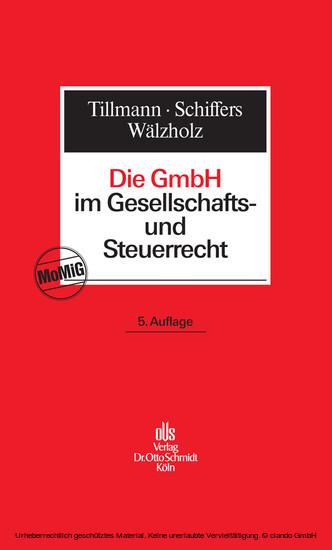 Die GmbH im Gesellschafts- und Steuerrecht - Blick ins Buch