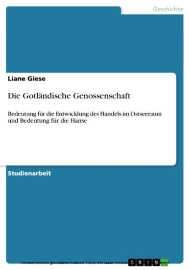 Die Gotländische Genossenschaft - Blick ins Buch