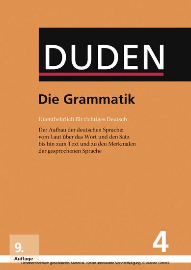 Die Grammatik - Blick ins Buch