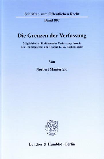 Die Grenzen der Verfassung. - Blick ins Buch