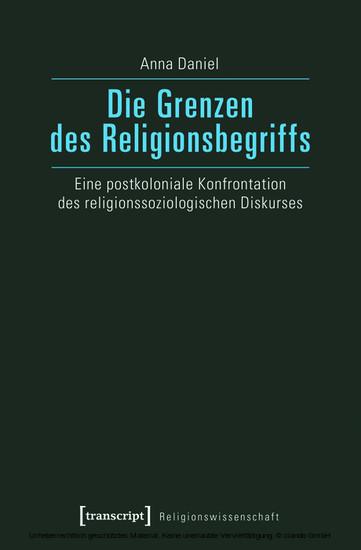 Die Grenzen des Religionsbegriffs - Blick ins Buch
