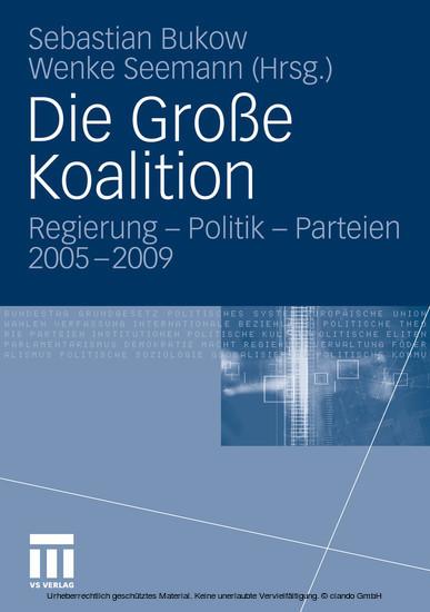 Die Große Koalition - Blick ins Buch