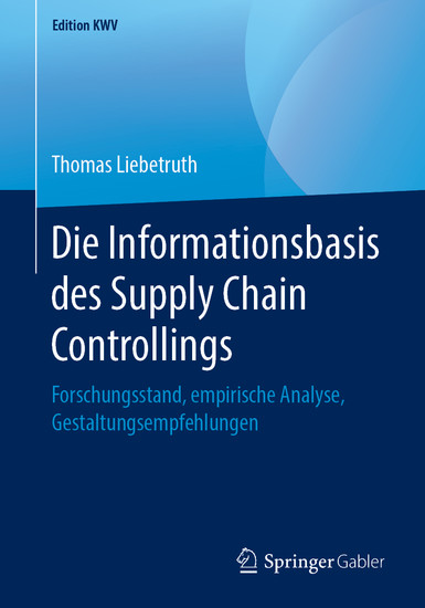 Die Informationsbasis des Supply Chain Controllings - Blick ins Buch