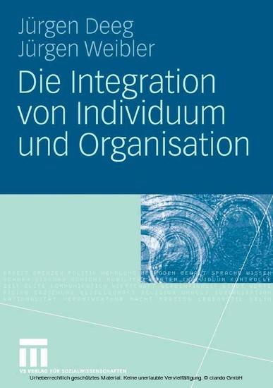 Die Integration von Individuum und Organisation - Blick ins Buch