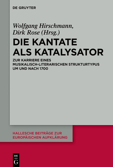 Die Kantate als Katalysator - Blick ins Buch