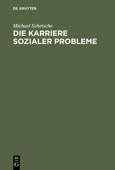 Die Karriere sozialer Probleme - Blick ins Buch