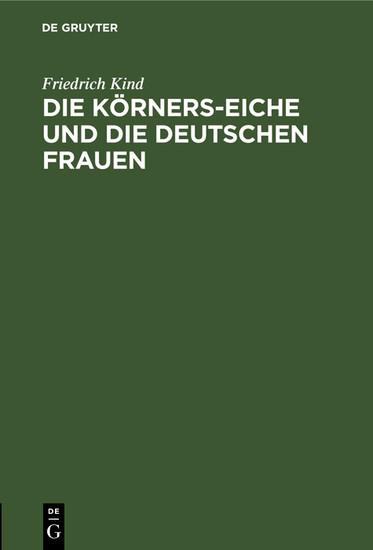 Die Körners-Eiche und Die Deutschen Frauen - Blick ins Buch
