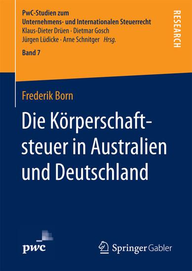 Die Körperschaftsteuer in Australien und Deutschland - Blick ins Buch