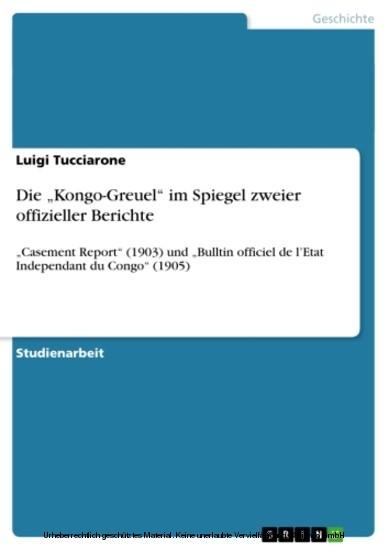 Die 'Kongo-Greuel' im Spiegel zweier offizieller Berichte - Blick ins Buch