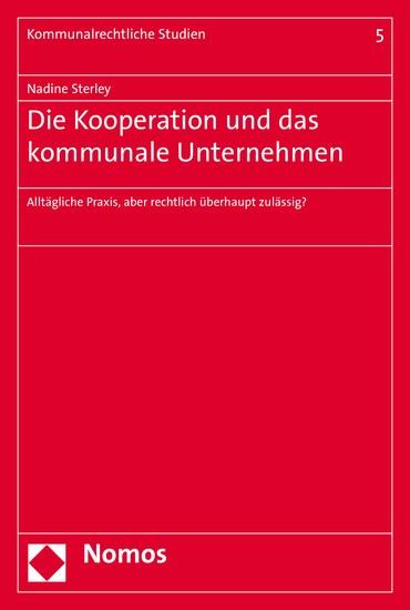 Die Kooperation und das kommunale Unternehmen - Blick ins Buch