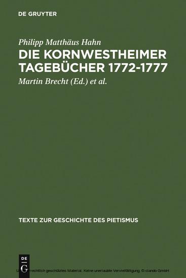 Die Kornwestheimer Tagebücher 1772-1777 - Blick ins Buch