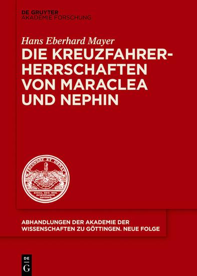 Die Kreuzfahrerherrschaften von Maraclea und Nephin - Blick ins Buch