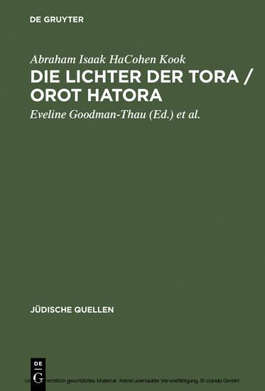 Die Lichter der Tora / Orot HaTora - Blick ins Buch