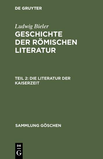 Die Literatur der Kaiserzeit - Blick ins Buch